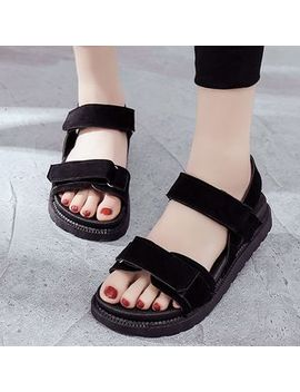 Adhesive Strap Sandals by Asterisk