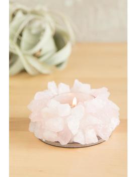 Rose Quartz Crystal Votive by Francesca's