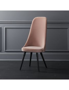 Harlow Pink Velvet Chair by Crate&Barrel