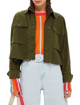 Sonny Raw Hem Crop Jacket by Topshop
