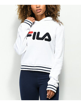 Fila Rosemary White, Blue & Red Hoodie by Fila