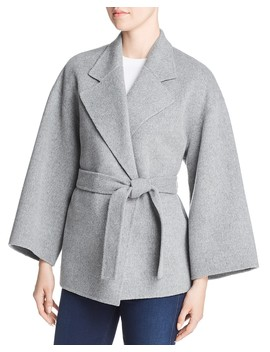 Wool & Cashmere Belted Jacket by Theory