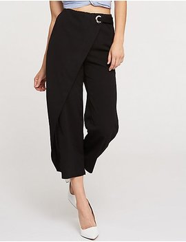 Faux Wrapped Trousers by Charlotte Russe