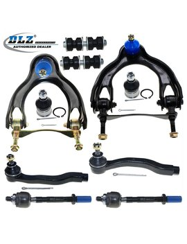 Dlz 10 Pcs Front Suspension Kit Upper Control Arm Ball Joint Assembly Lower Ball Joint Sway Bar Tie Rod End Compatible With 1992 1995 Honda Civic 1993 1997 Honda Civic Del Sol 1994 1997 Acura Integra by Dlz