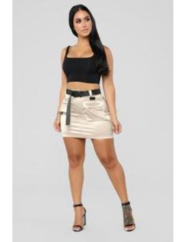 Blakely Cargo Skirt   Khaki by Fashion Nova