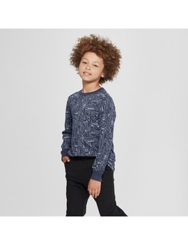 Boys' Long Sleeve T Shirt   Cat & Jack™ Navy by Shop All Cat & Jack™