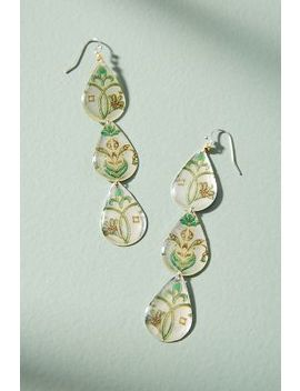 Painted Trio Drop Earrings by Anthropologie