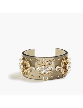 Crystal Studded Lucite Cuff by J.Crew