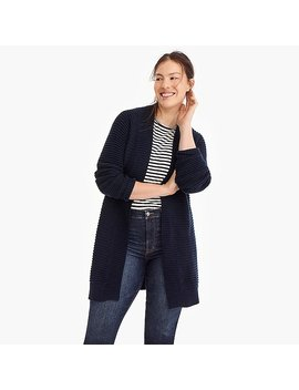 Ribbed Long Cardigan Sweater by J.Crew