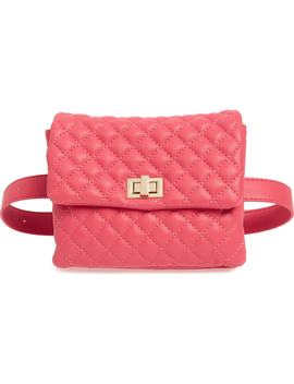 Mali + Lili Quilted Vegan Leather Belt Bag by Mali And Lili
