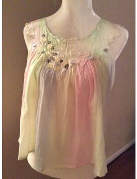 Manoush Blue Pastel  Cotton  Blouse   Size M by Manoush