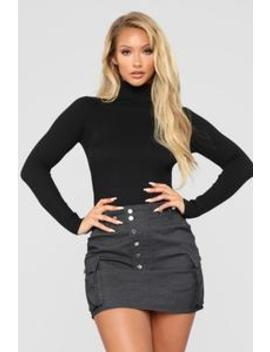 Tara Turtle Neck Sweater   Black by Fashion Nova