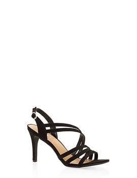 Cross Strap Mid Heel Sandals by Rainbow