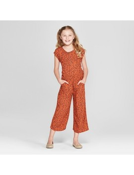 Girls' Zipper Jumpsuit   Cat & Jack™ Orange by Shop All Cat & Jack™
