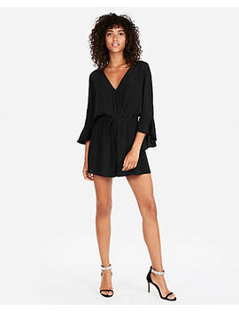 Surplice Bell Sleeve Romper by Express