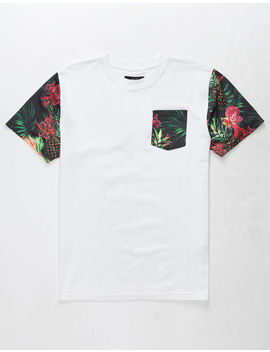 Asphalt Rosey Pines Boys Pocket Tee by Asphalt