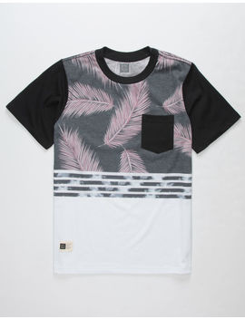 Lira Giant Palms Boys Pocket Tee by Lira