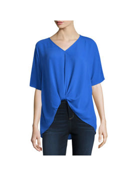 Belle + Sky Knot Front Drape Top by Belle + Sky