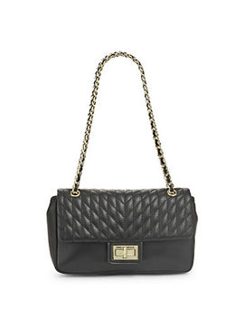 Quilted Convertible Leather Shoulder Bag by Karl Lagerfeld Paris
