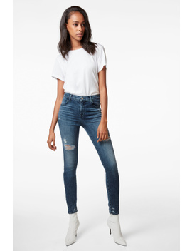 Maria High Rise Super Skinny In Moonstruck by J Brand