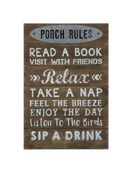 Porch Rules Wall Décor   3 R Studios by Shop All 3 R Studios
