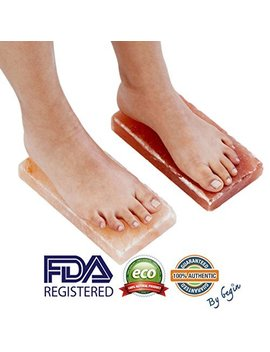 "New Himalayan Salt Block Detox For Foot (Set Of Two) (Size 8"" X 4"" X 2"") With Instructions by Begin"