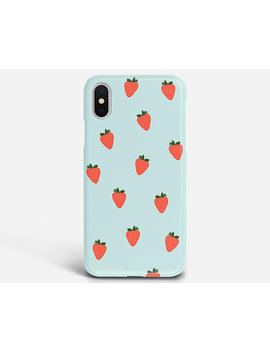 Strawberry Phone Case I Phone Case Huawei P10 Case Lg G6 Case Lg G5 Case Htc U11 Case Htc 10 Case Huawei P10 Plus Case Lg G4 Case by Olly Cases