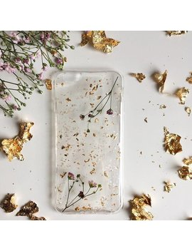 Handmade Phone Case, Charming Phone Case, Flower Phone Case, Golden Phone Case, Chick Case, Petals Phone Case, Custom Phone Case, by Fernandfelt