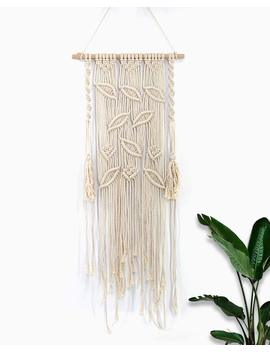 Easichic Macrame Wall Hanging Tapestry Woven Tree Leaves Bohemian Wall Decor Backdrop Hanger Gift,17.7''w X 43.4''l by Easichic