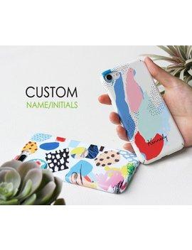 Personalized I Phone Case, Custom Name Initials Phone Case, Customized Phone Case, I Phone   Case, Samsung Galaxy Case, Huawei Pro Case by Iamacase