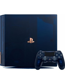 Play Station 4 Pro 2 Tb 500 Million Limited Edition Console Bundle   Translucent Blue by Sony