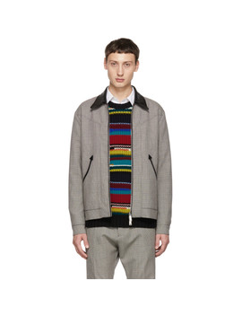 Multicolor Houndstooth Zip Jacket by Dsquared2