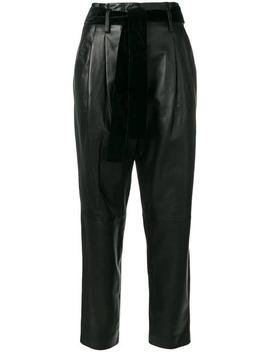Michael Michael Korshigh Waisted Pleated Leather Pantshome Women Michael Michael Kors Clothing High Waisted Pants by Michael Michael Kors