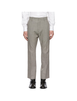 Multicolor Cropped Flare Houndstooth Trousers by Dsquared2