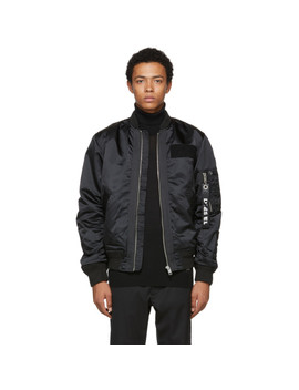 Black J Souly Bomber Jacket by Diesel