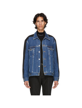 Indigo & Black Denim Jacket by Johnlawrencesullivan