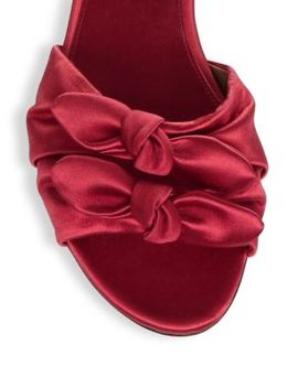 Knot Satin Slides by Tabitha Simmons
