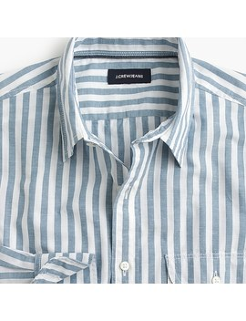 Slim Slub Poplin Cotton Shirt In Stripe by J.Crew