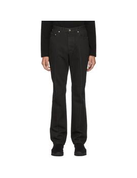 Black Slim Fit Jeans by Johnlawrencesullivan