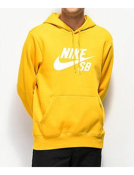 Nike Sb Icon Yellow Ochre Hoodie by Nike Sb
