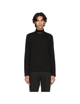 Black Logo Turtleneck by Johnlawrencesullivan