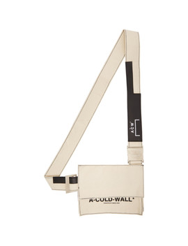 Beige Canvas Utility Pouch by A Cold Wall*