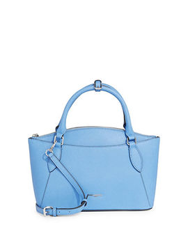 Veronique Classic Leather Satchel by Karl Lagerfeld Paris