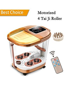 Foot Spa Massage With Motorized Tai Ji Massage   Remote Control & 4 Pro Set Program   Time Setting, Surfing & Heating, Auto Massage, Bubble Oxygen Ozone... by Binxin