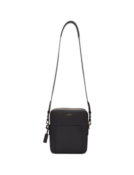 Black Panama Reporter Bag by Smythson