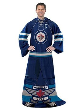 Nhl Winnipeg Jets Captain Comfy Throw   The Blanket With Sleeves by Amazon