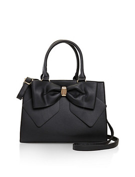 Faux Leather Bow Satchel by Rainbow