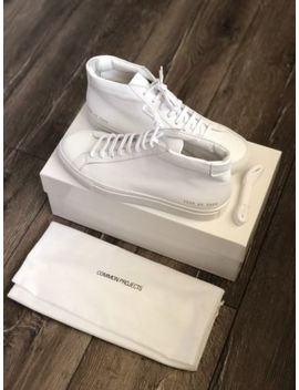 Common Projects Men's White Original Achilles Mid Sneakers Size 40 by Common Projects