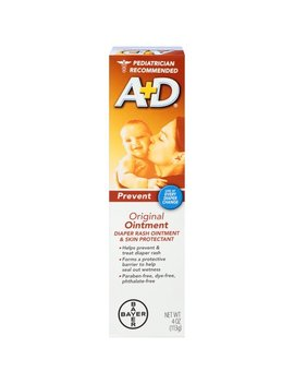 A+D Original Diaper Rash Ointment, Skin Protectant, 4 Ounce Tube by A + D
