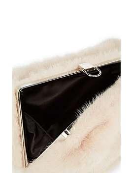 Mink Fur Asymmetric Frame Clutch by Proenza Schouler